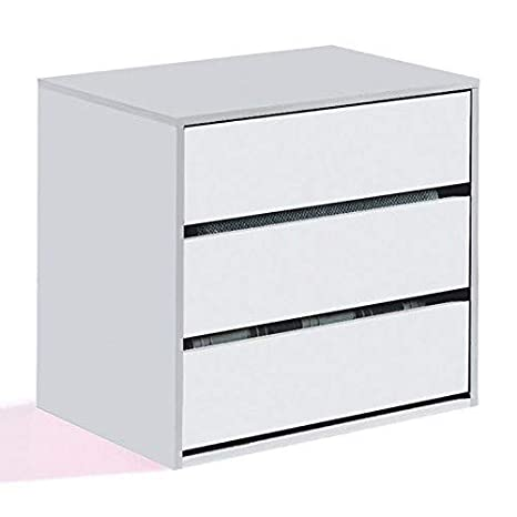 Habitdesign ARC6030 - Cajonera para armario, color blanco brillo, dimensiones 60 x 57 x 44 cm