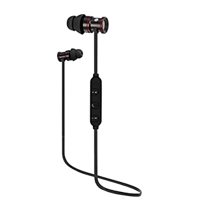 high-quality Bluetooth Headphones, AutumnFall Bluetooth 4.0 Wireless , Stereo Sports Earbuds for Running, Gym, Walking, Jogging, CVC 6.0, Noise-Cancelling, Built-in Mic (Black) (Black)