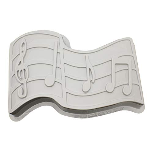 - CK Products 49-5302 Plastic Musical Notes Cake Pan, White