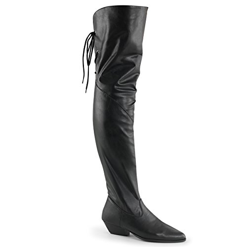 Pleaser Women's Rodeo 8822 Pull On Black Boot 9 M (Thigh Rodeo High Boot)