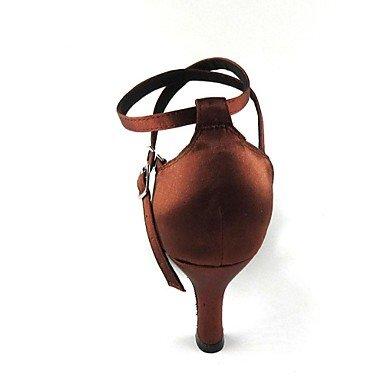 XIAMUO Latin CustomizableWomen's Sandalen anpassbare Heel Satin mit Strass Schuhe, Gold, Us5.5/EU36/UK3.5/CN 35