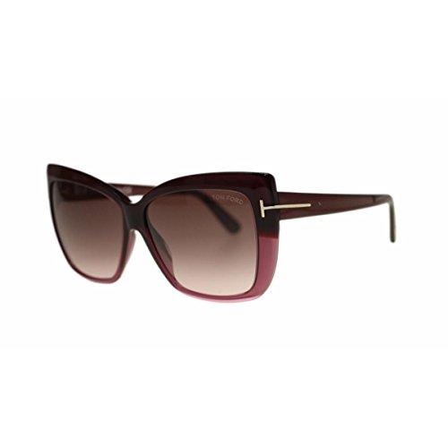 Tom Ford Womens Irina Oversized Gradiant Square Sunglasses Purple - Sunglasses Purple Ford Tom
