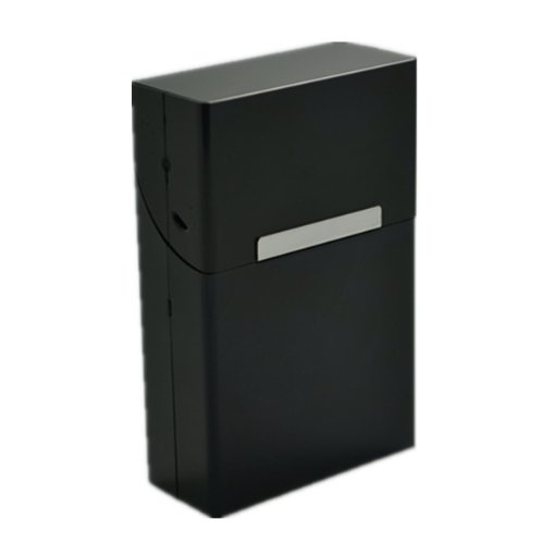 LAIFU Metal Design Durable Cigarette Case Box, Black