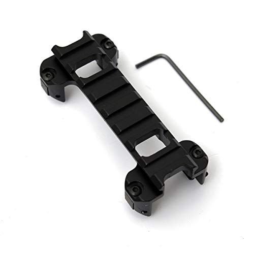 r Rail Laser Scope Mount Claw Low Profile Mount Base for Airsoft MP5 G3 Series Clip Bracket ()