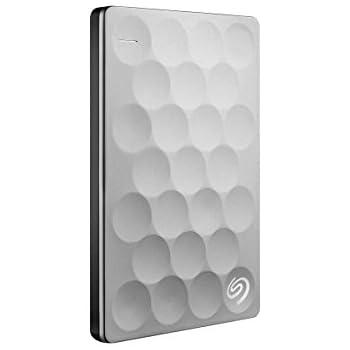 Seagate Backup Plus Ultra Slim 2TB Portable External Hard Drive, USB 3.0 Platinum (STEH2000100)