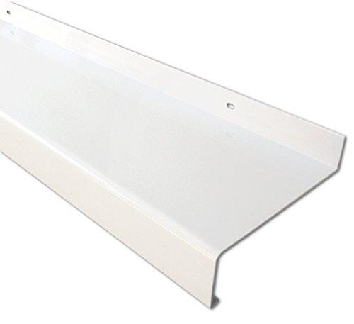 Aluminium Fensterbank weiß, Ausladung: 110 mm, Rasterlänge: 1000 mm auf Wunschmaß geschnitten