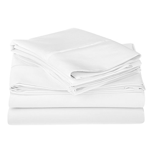 1200 Thread Count 100% Egyptian Cotton, Single Ply, King Bed Sheet Set, Solid, (1200 Thread)