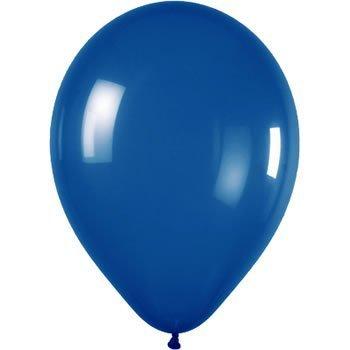 25 x 12 inch Latex Mid Blue Wedding Balloons BALLOONIA .