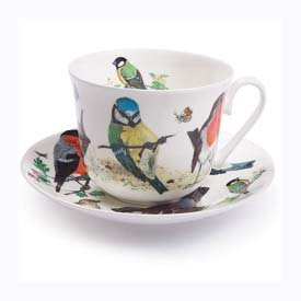 Roy Kirkham Garden Birds Chatsworth Breakfast Cup and Saucer by Roy Kirkham ()