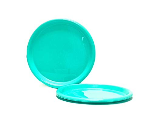Mintra Home Reusable Plastic Plates (Teal, Large 4pk (8.5in))