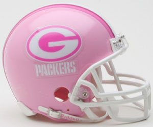 Riddell Green Bay Packers Pink Replica Mini Helmet - Green Bay Packers One Size