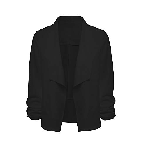 Blanc 3 De Manches La Travail VJGOAL Cardigan Travail Bureau Femme De De Noir 4 Bureau Veste Court Costume Manteau De Ouvert Avant Blazer Mode De vwv7pz0q