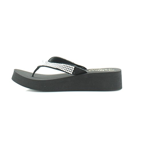 Barth Sandals Flip Casual St Flop Womens Black Toe Open Flip Callisto Flops 4fqE8vnn
