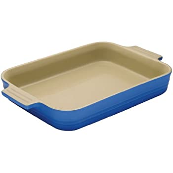 Le Creuset Stoneware 7-by-5-Inch Rectangular Dish, Marseille