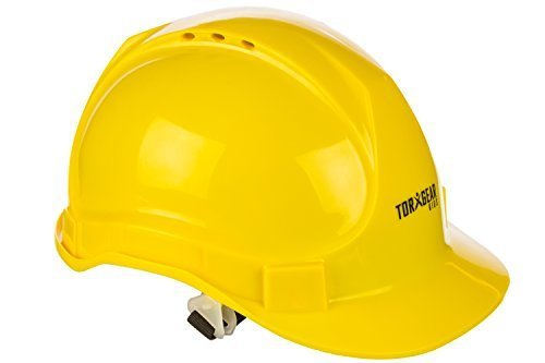 Child Hard Hat - Ages 2 to 6 - Kids Yellow Safety Construction Helmet or Costume ()