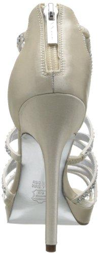 Nina White Strapless Beach Wedding Prom Bridal Chiffon Ruffle Dress 023 Ivory/Natural Satin