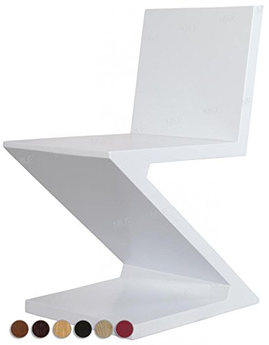 Tile Top Dinette (MLF® Gerrit Thomas Rietveld Zig Zag Chair (7 Colors), MDF with Ash Wood Skin. (White))