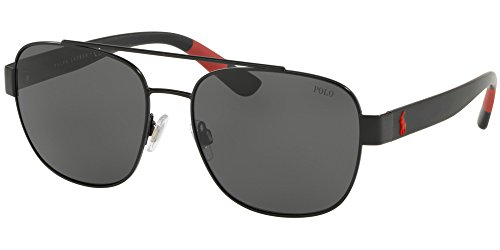BLACK hombre SMOKE Gafas PH Lauren 3119 Sol Polo Ralph de qz70Z