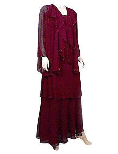 Burgundy para Stillluxury Vestido A mujer 5w0tAtCqx