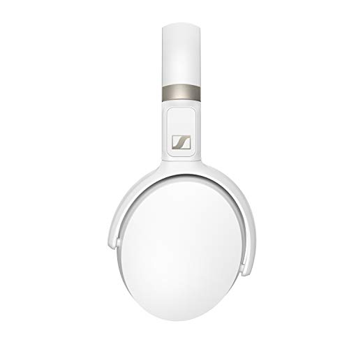 Sennheiser HD 450BT Bluetooth 5.0 Wireless Headphone with Active Noise Cancellation - 30-Hour Battery Life, USB-C Fast Charging, Virtual Assistant Button, Foldable - White