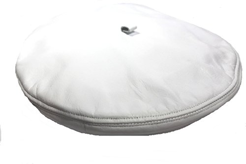 Us Forces Leather Beret Hat Cap , One Size Fit , Us Army , Made in USA, White