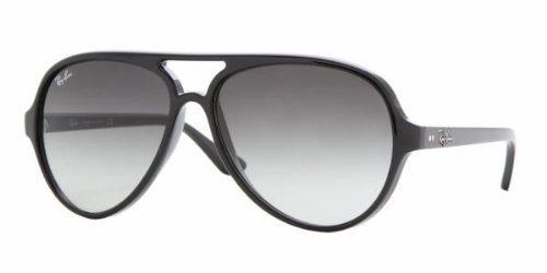 Ray Ban RB 4125 601/32 Shiny Black RB4125 (Ray Ban Rb4125 Cats)