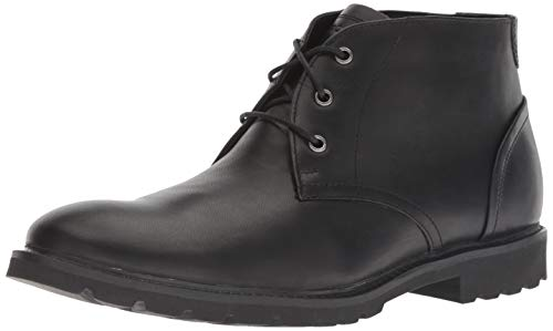 Rockport Men's Sharp & Ready Chukka Boot, Black, 12 W US