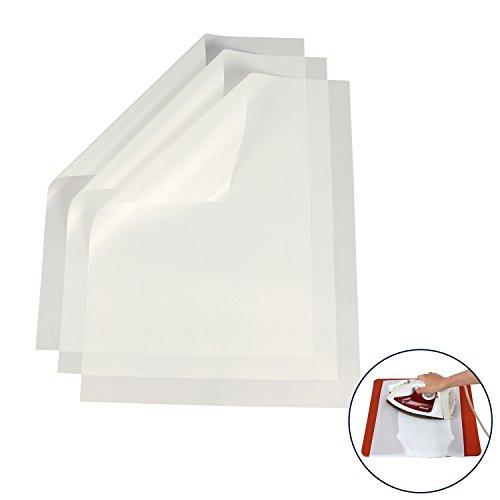 RUSPEPA Teflon Sheet For 12x15 Inches Heat Press Transfers Sheet, Heat Resistant Craft Mat - 3 Pack