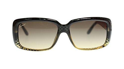 8eeb17f76fa Gucci Womens Sunglasses Rectangle GG3575 W8H Black Gold Diamond 57mm  Authentic