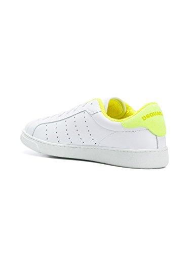 DSQUARED2 Damen SNW040306500286M1382 Weiss Leder Sneakers