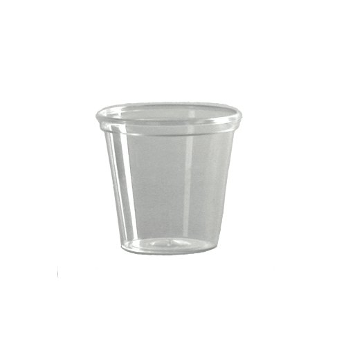 WNA P10 Comet Plastic Portion/Shot Glass, 1 oz, Clear (Case of 2500)