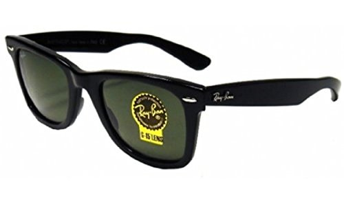 RB RB2140F Wayfarer Sunglasses Matte Black / Crystal Green 52mm & Care (Matte Black Crystal Green)