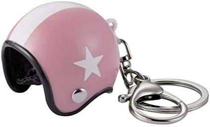 Gran llavero joyas de bolsa casco Moto rosa y blanco ...