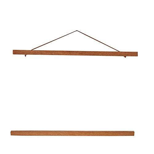 Suspension de madera natural del cartel de DIY, Marco de Fotos magnetica moderna para Exhibir Pintura Cartel Cuadro Decoracion, decoracion casera de la tela(50cm)