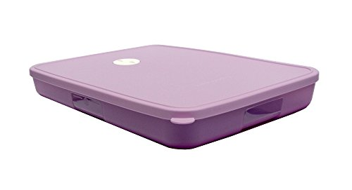 Tupperware FreezeSmart Freezer Container 1.2L 4 3/4 Cups Seal Date Dial Daisy Lavender Purple