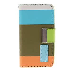 Mini - Colorful Fresh Style PU Leather Flip-Open Case with Card Slot , Color: Stand and Strap for iPhone 4/4S