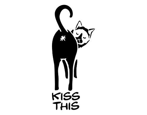 Cat says KISS THIS BLACK (4