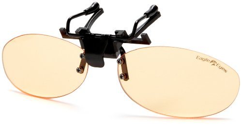 Eagle Eyes StimuLight ClipOn Sunglasses -  Profile Sleek Design Low-Light Vision Boosting - Light Sunglasses Enhancing