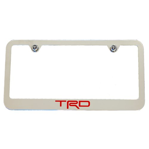 Toyota TRD Chrome License Plate Frame High End   Buy Online In UAE. |  High End Motorsports Products In The UAE   See Prices, Reviews And Free  Delivery In ...