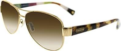 Coach Sunglasses - Kristina / Frame: Green Lens: Brown Gradient