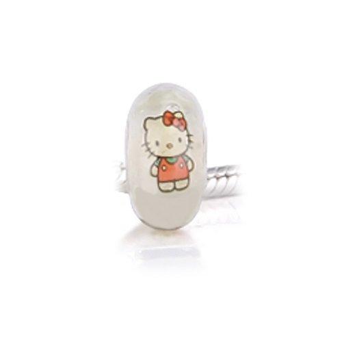 Bling Jewelry Glow in the Dark Cool Kitty Murano Glass Bead 925 Sterling Fits Pandora