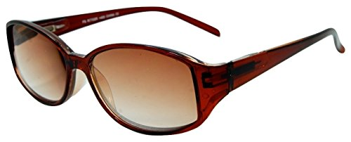 - In Style Eyes Stylish Full Reader Sunglasses Brown 1.25