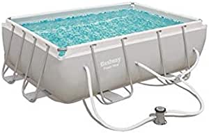 Bestway 56631E Power Steel - Piscina sobre el Suelo, Color Blanco ...
