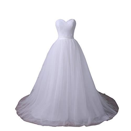 YIPEISHA Plus Size Wedding Dresses Sweetheart Sleeveless Corset Bridal Gown with Pleats 8 - Wedding Dress Corset Sweetheart