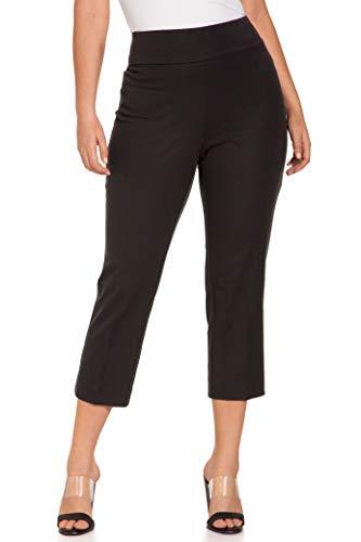 Boston Proper Women's Everyday Side Zip Stretch Twill High-Rise Capri Pant Black 14