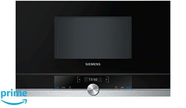 Siemens BF634LGS1 - Microondas (1220W, 59,4 cm, 31,8 cm, 38,2 cm) Negro, Acero inoxidable: Amazon.es: Hogar