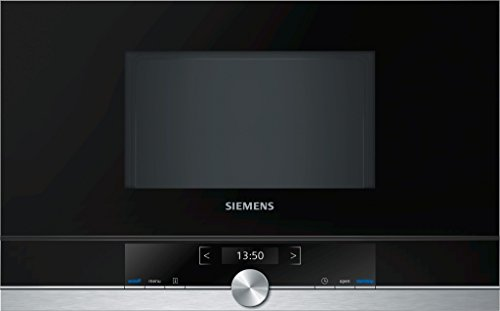 Siemens BF634RGS1 – Microondas (1220W, 59,4 cm, 31,8 cm, 38,2 cm) Negro, Plata