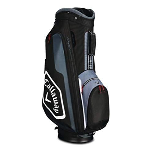 Callaway Golf 2019 Chev Cart Bag, Black/Titanium/White