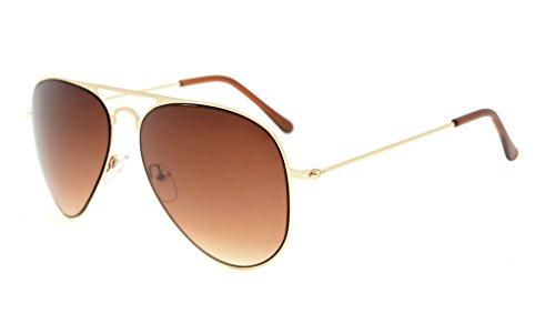 Eyekepper Kids Teen Age 8-16 Sunglasses Boys Girls Gold Frame Brown - Girl Glasses Teenage Frames For