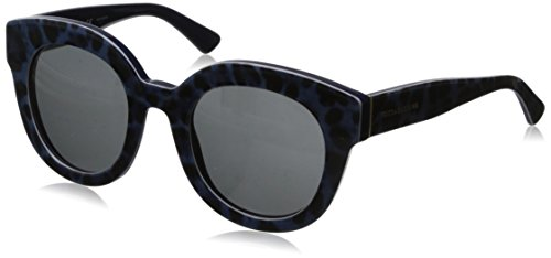D&G Dolce & Gabbana Women's 0DG4235 Round Sunglasses,Leopard Blue,49 - Gabbana Dolce Sunglasses Blue And